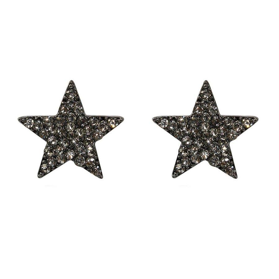 Brinco Estrela Cuba Grafite Branco