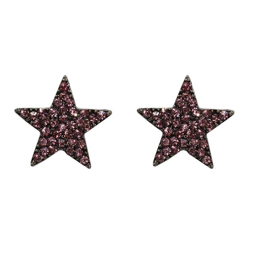 Brinco Estrela Cuba Grafite Rosa