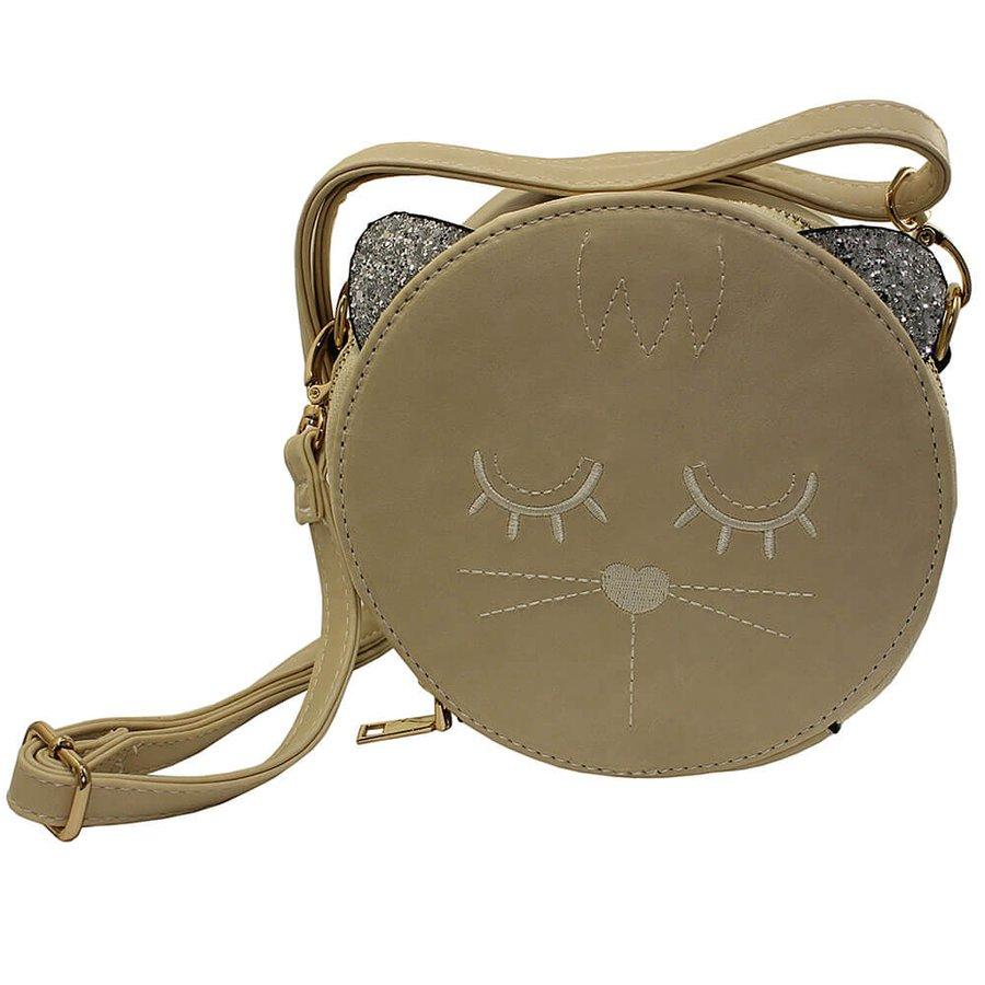 Bolsa Gato Preta Creme