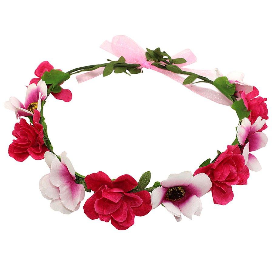 Coroa De Flor Tulip Pink Branco