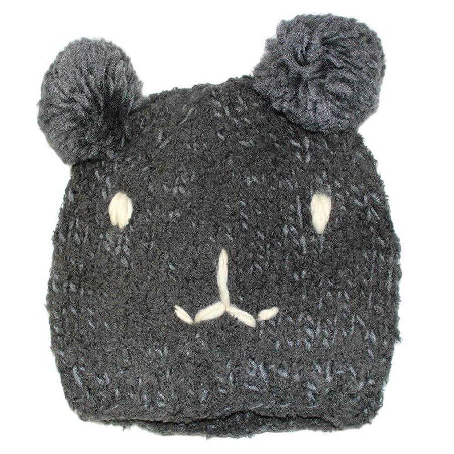 Touca Urso Cinza Escuro