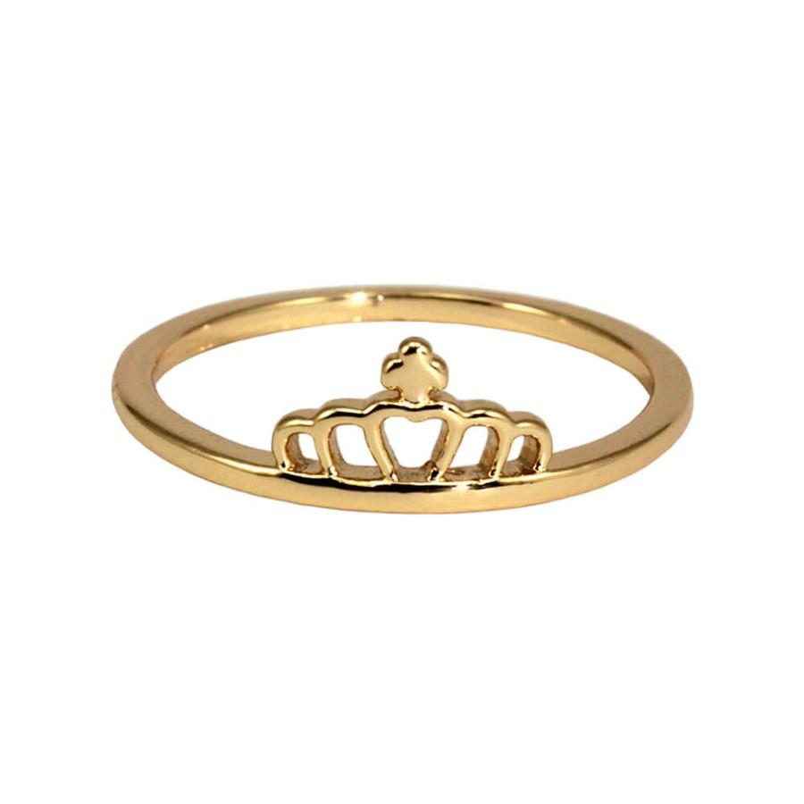 Anel Coroa Dourado *