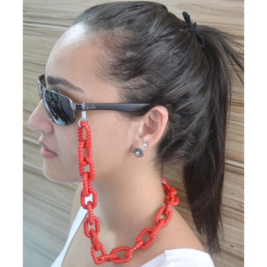 Cordinha de Óculos Corrente Vermelha *