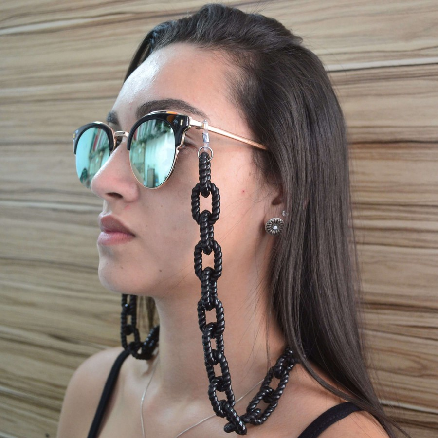 Cordinha de Óculos Corrente Preto *