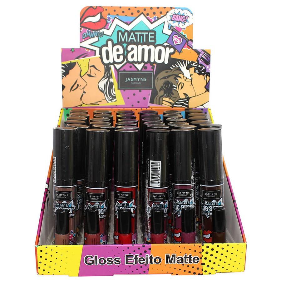 Display Com 36 Unidades Gloss Efeito Matte Jasmyne A *