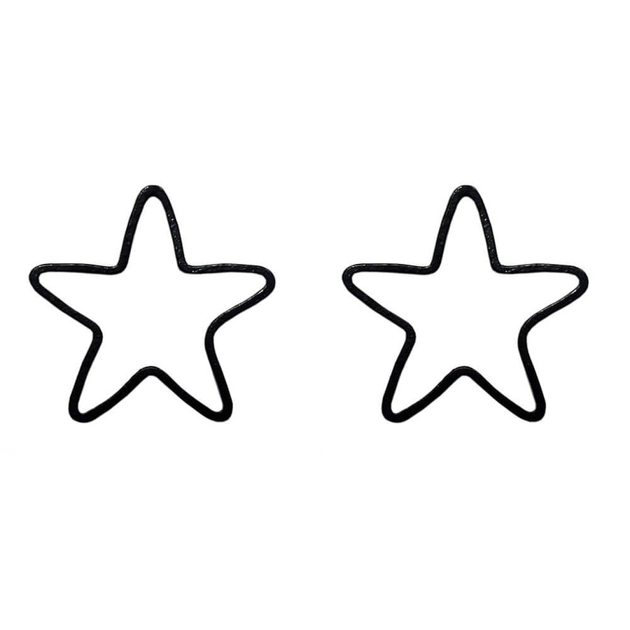 Brinco Estrela Gorgona Preto