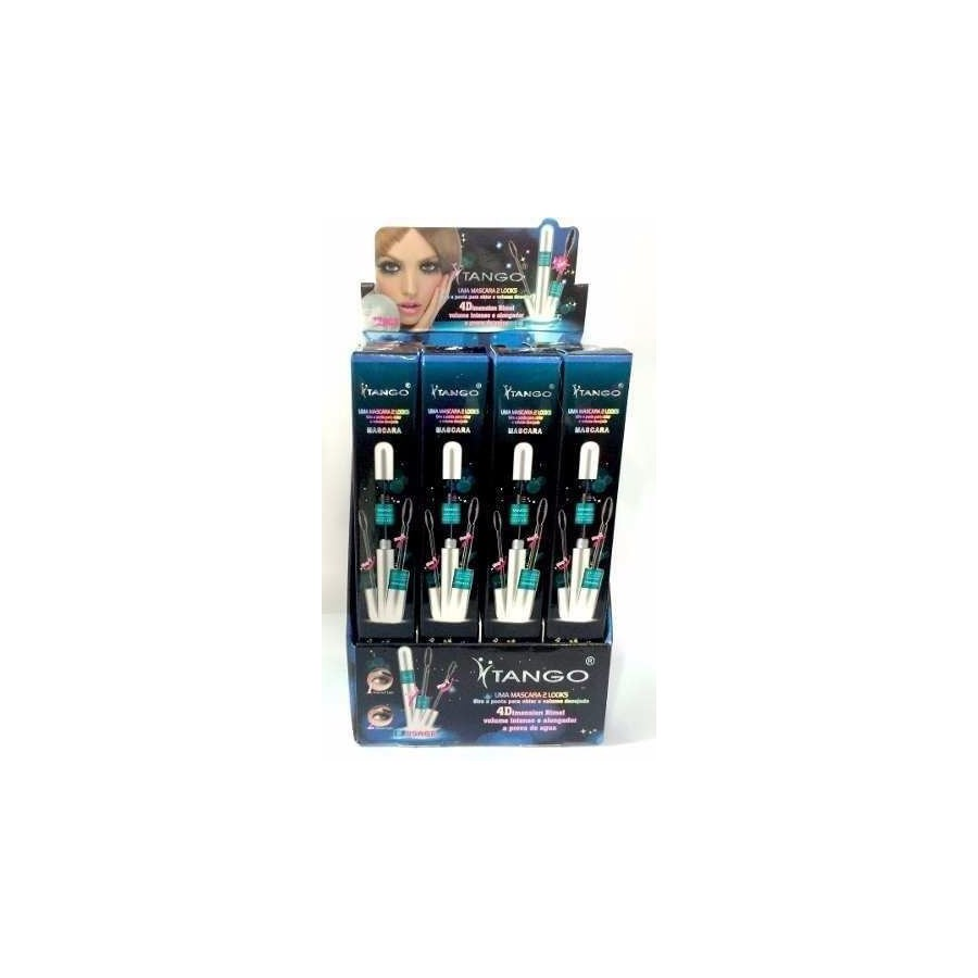 Display com 12 unidades Rímel Máscara para Cílios Tango 2 em 1 *