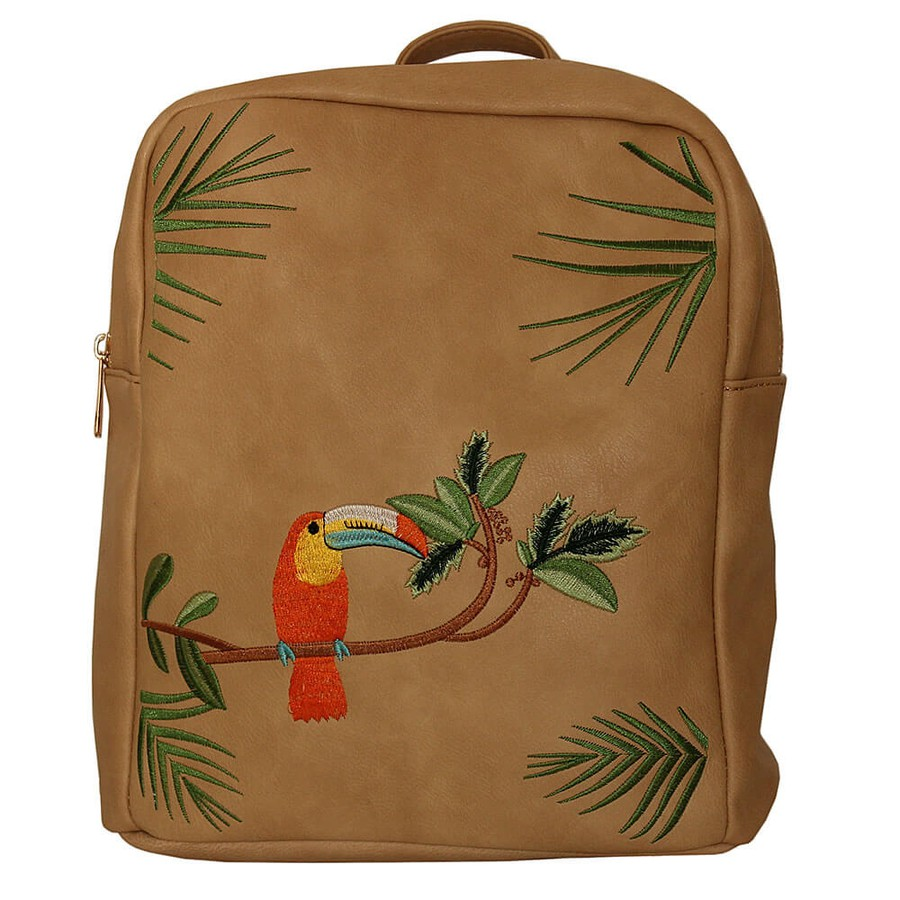 Mochila Tropical Estampa Tucano Nude