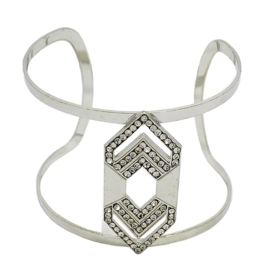Bracelete Athenas Prata Strass