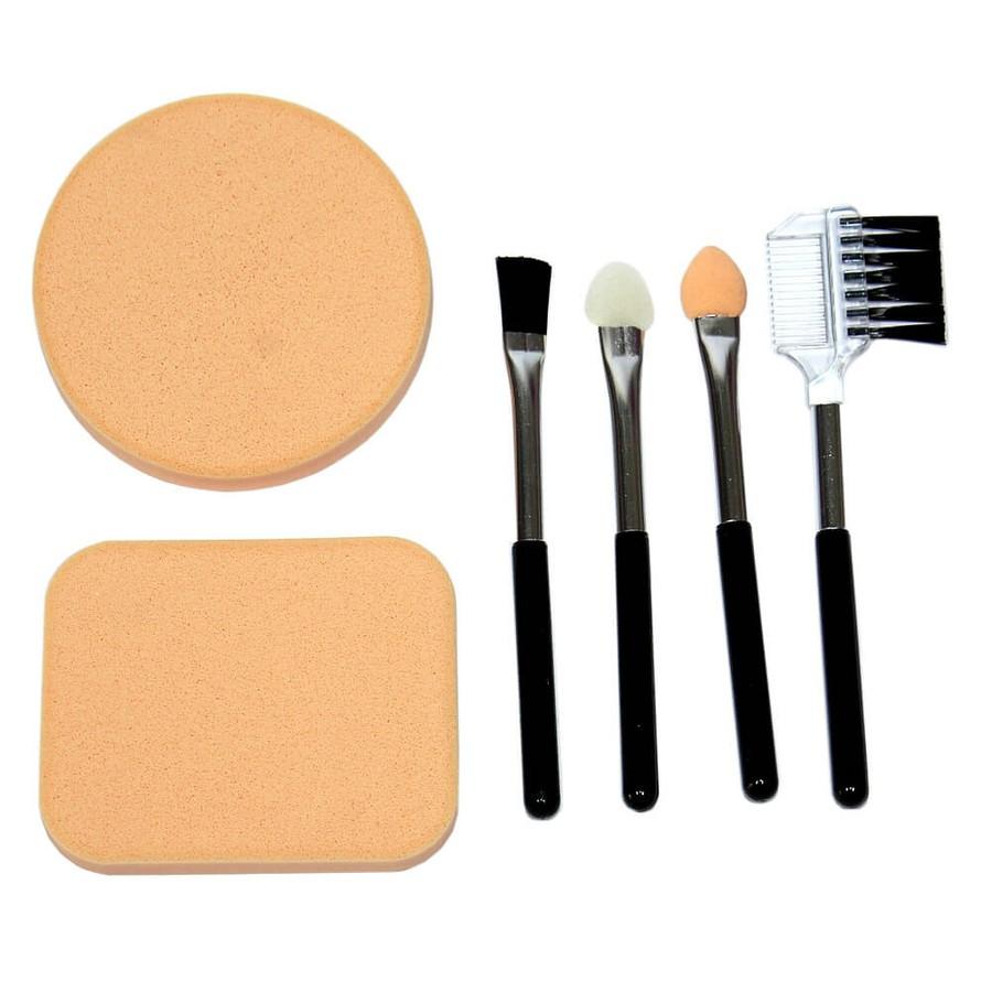 Kit Mini Pincéis e Esponjas em Látex para Maquiagem