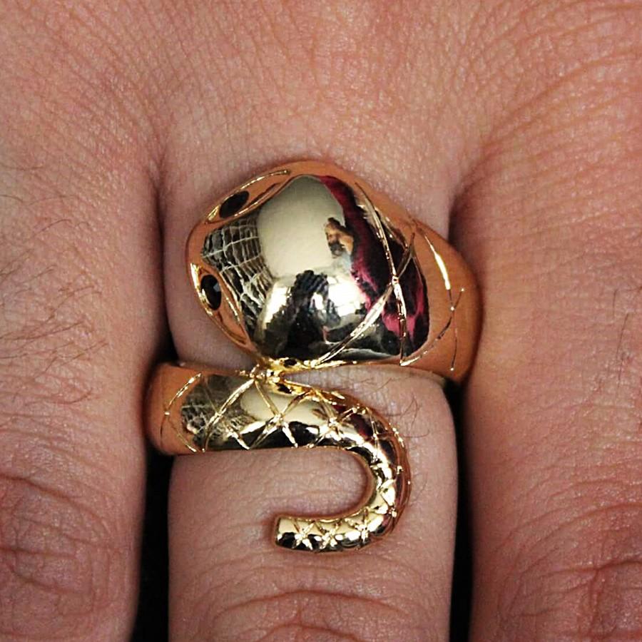 Anel Regulável Snake Dourado