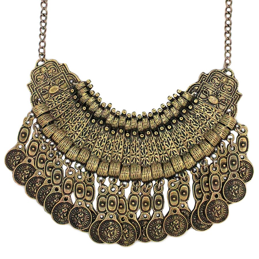 Colar Gypsy Ouro Velho Indian *