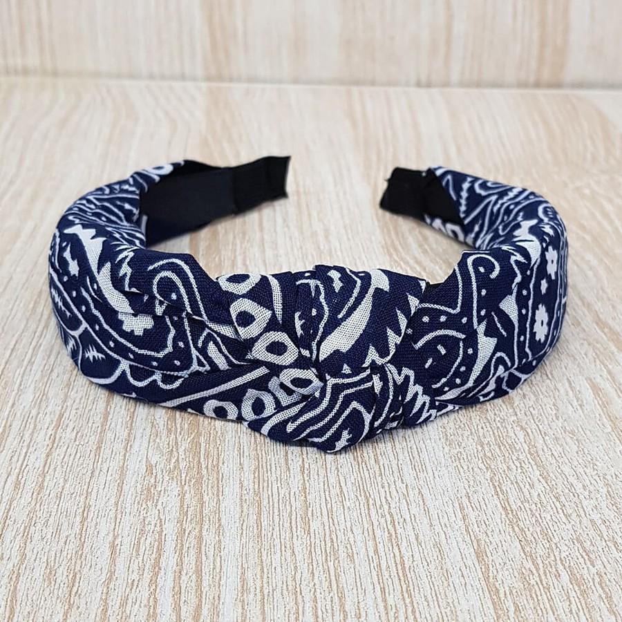 Tiara Turbante Azul Marinho