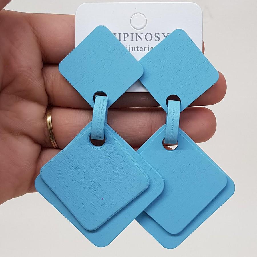 Brinco Maxi Madeira Azul