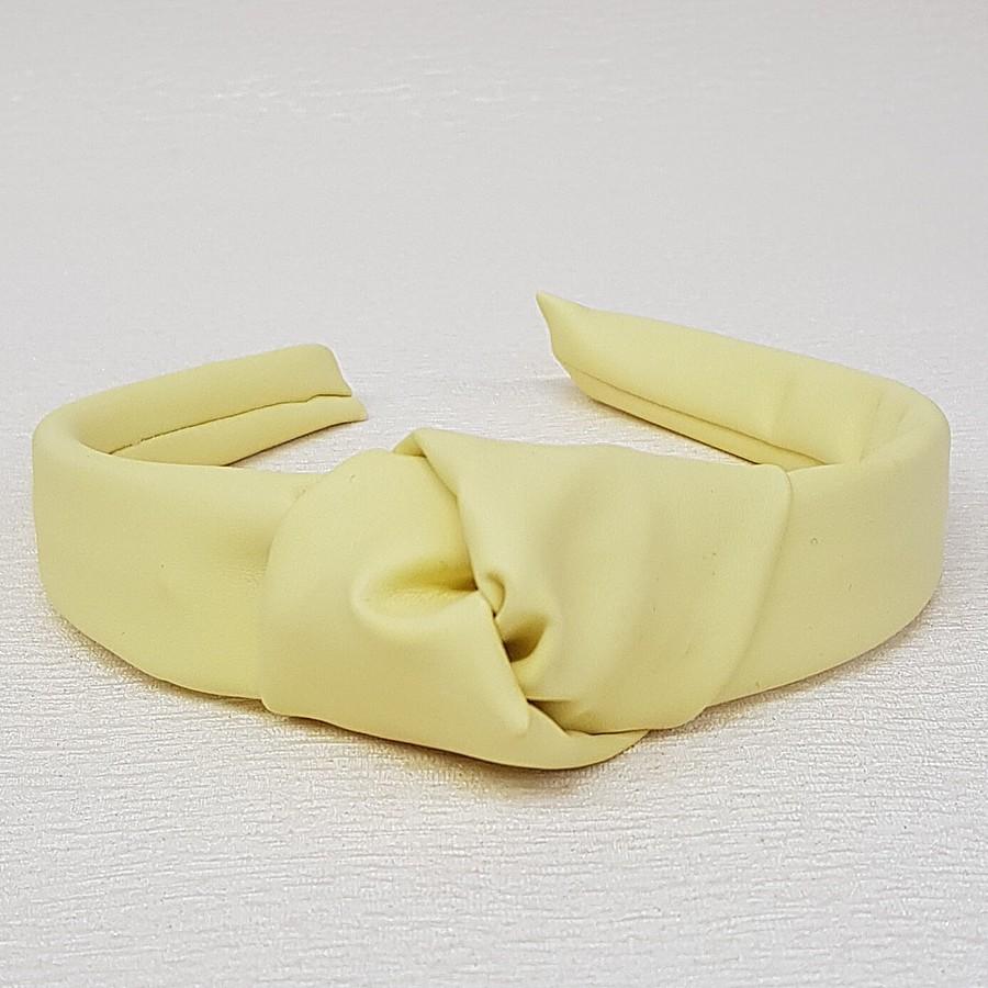 Tiara De Nó Courinho Amarelo