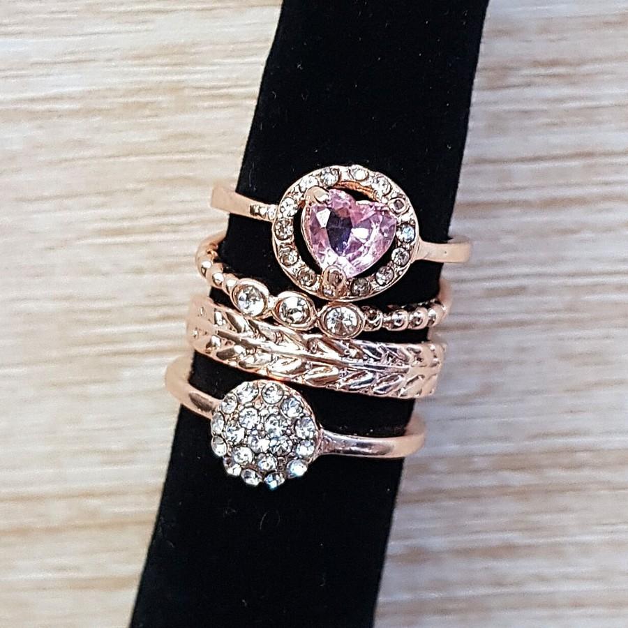 Quarteto De Anéis Rosê Rosa
