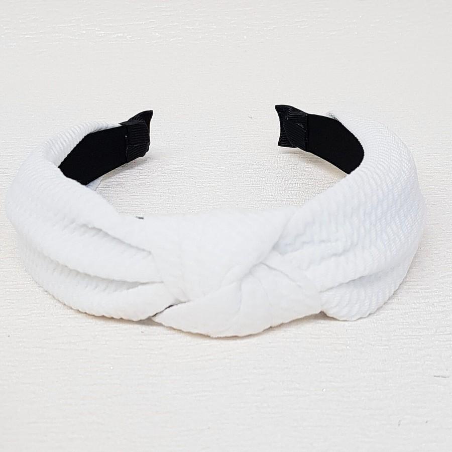 Tiara De Nó Detalhada Branco