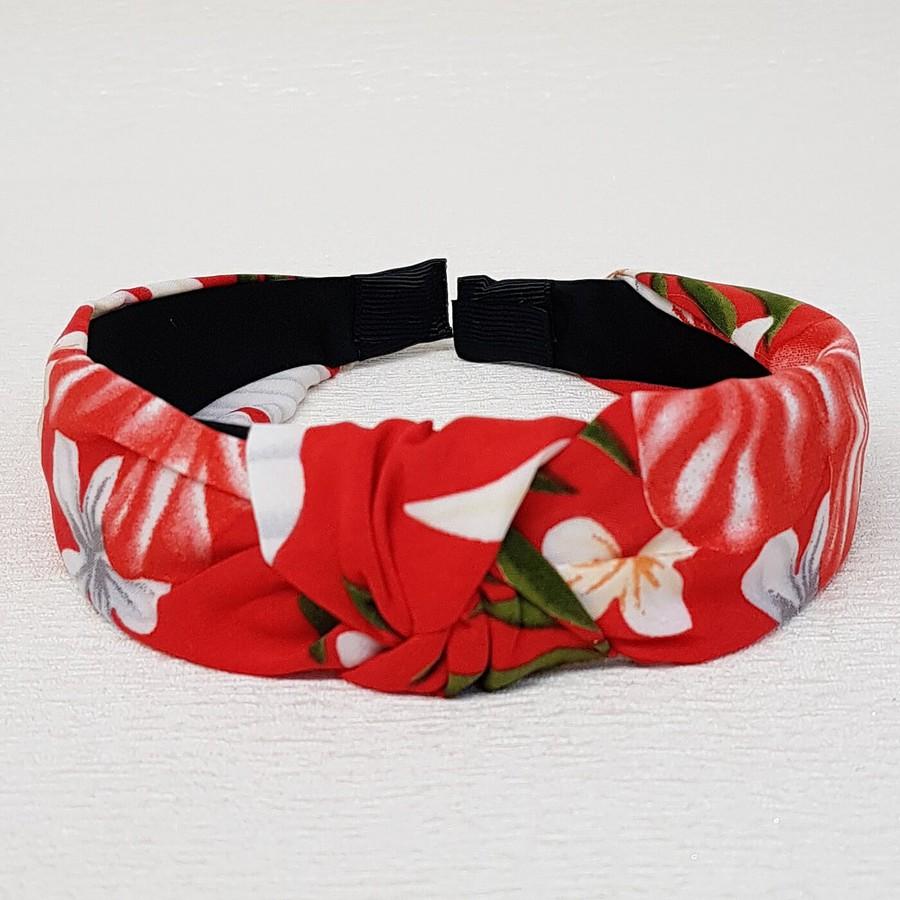 Tiara De Nó Flores Vermelho