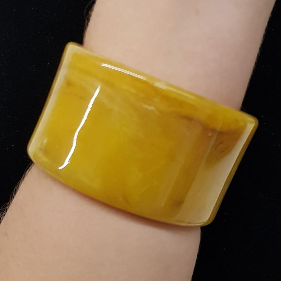 Bracelete Acrílico Mesclado Amarelo