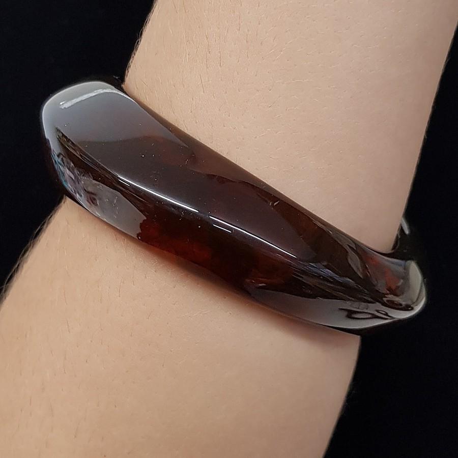 Bracelete Acrílico Mesclado Caramelo