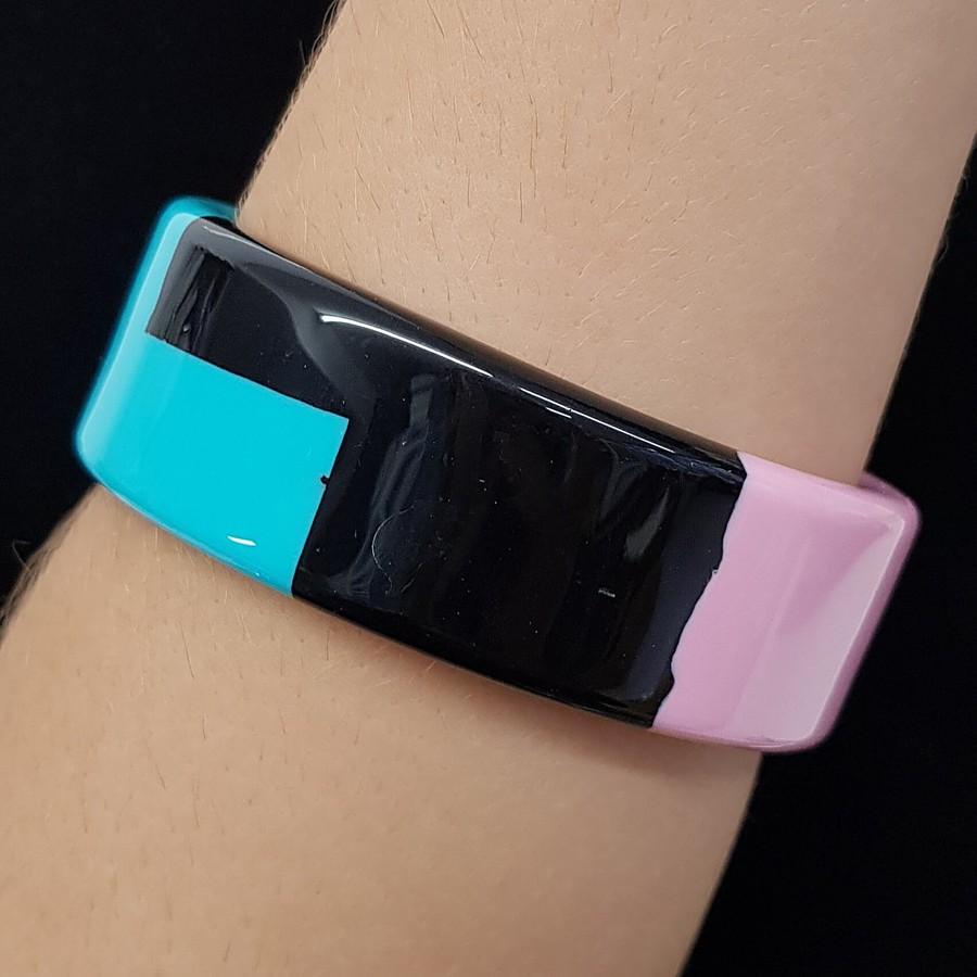 Bracelete Acrílico Mosaico Rosa