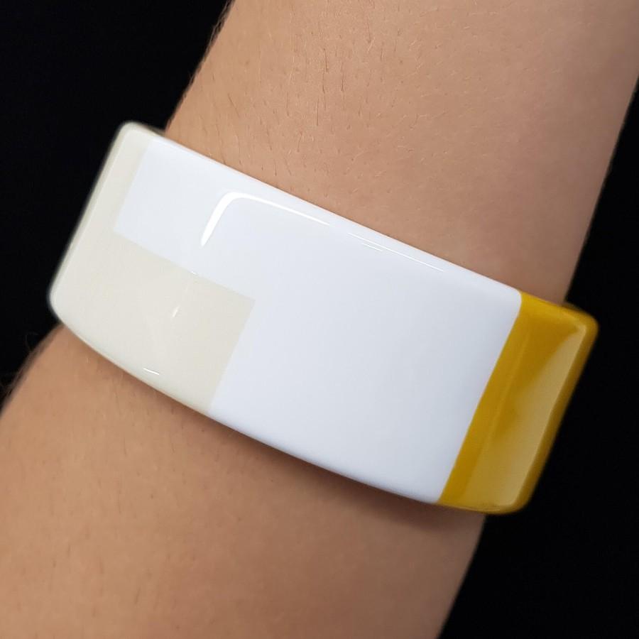 Bracelete Acrílico Mosaico Amarelo