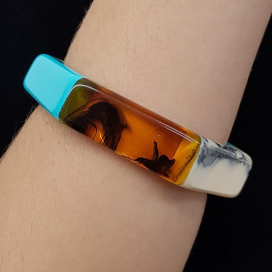 Bracelete Acrílico Mosaico Acqua