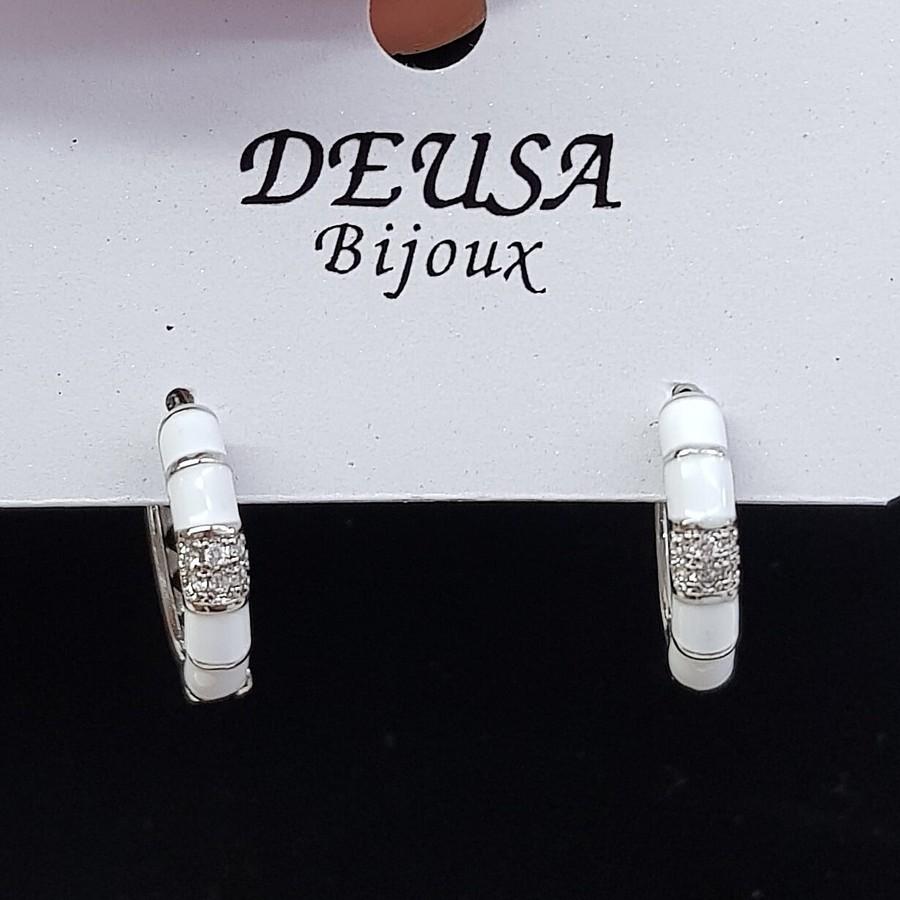Mini Argola Micro Zircônia Prata Branco