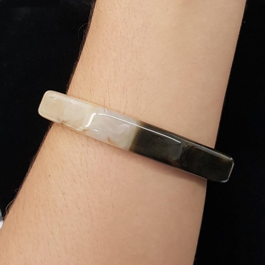 Bracelete Acrílico Moisaico Off White