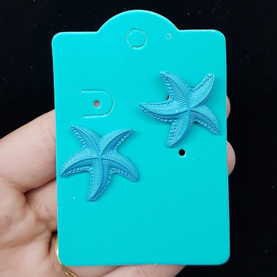 Brinco Estrela Do Mar Azul Escuro