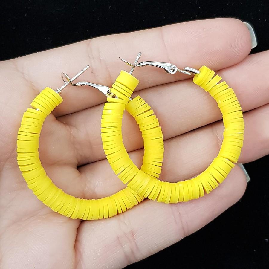 Argola Pequena Amarelo Forte