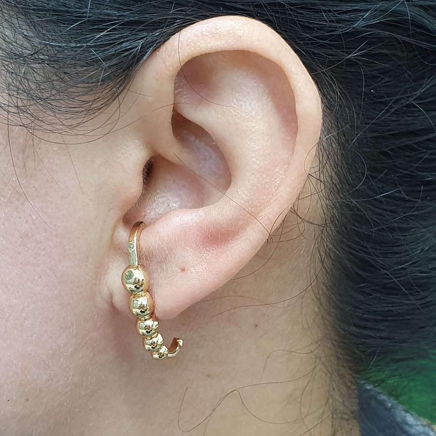 Brinco Folheado Ear Hook Dourado