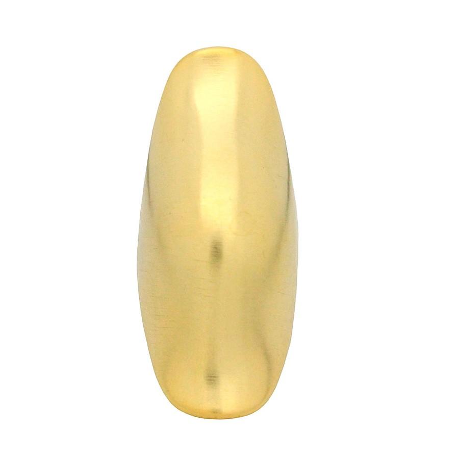 Anel Placa Ondulado Fosco Dourado Visky