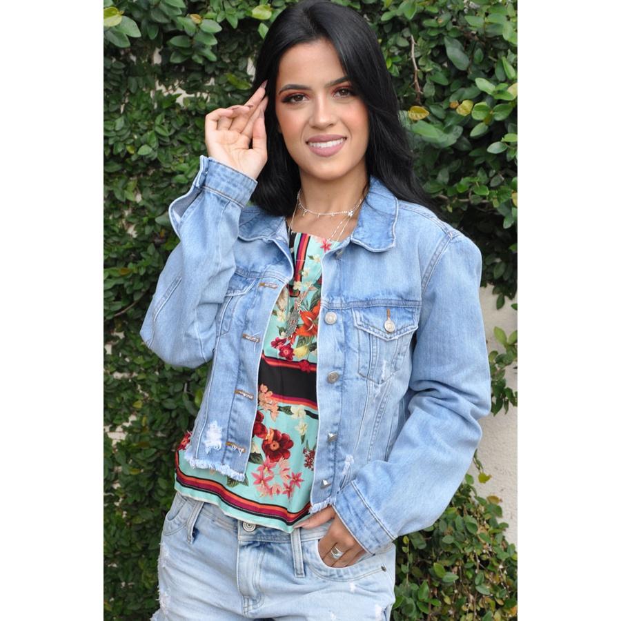 Jaqueta Jeans Claro