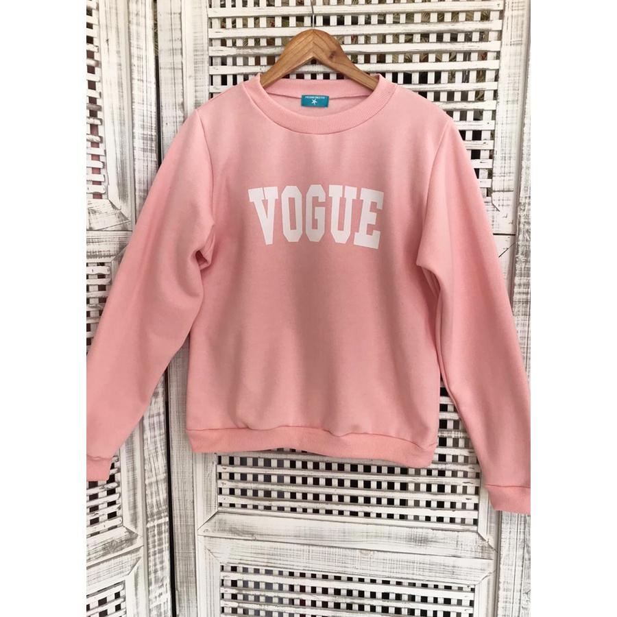 Blusa de Moletom Vogue Salmão