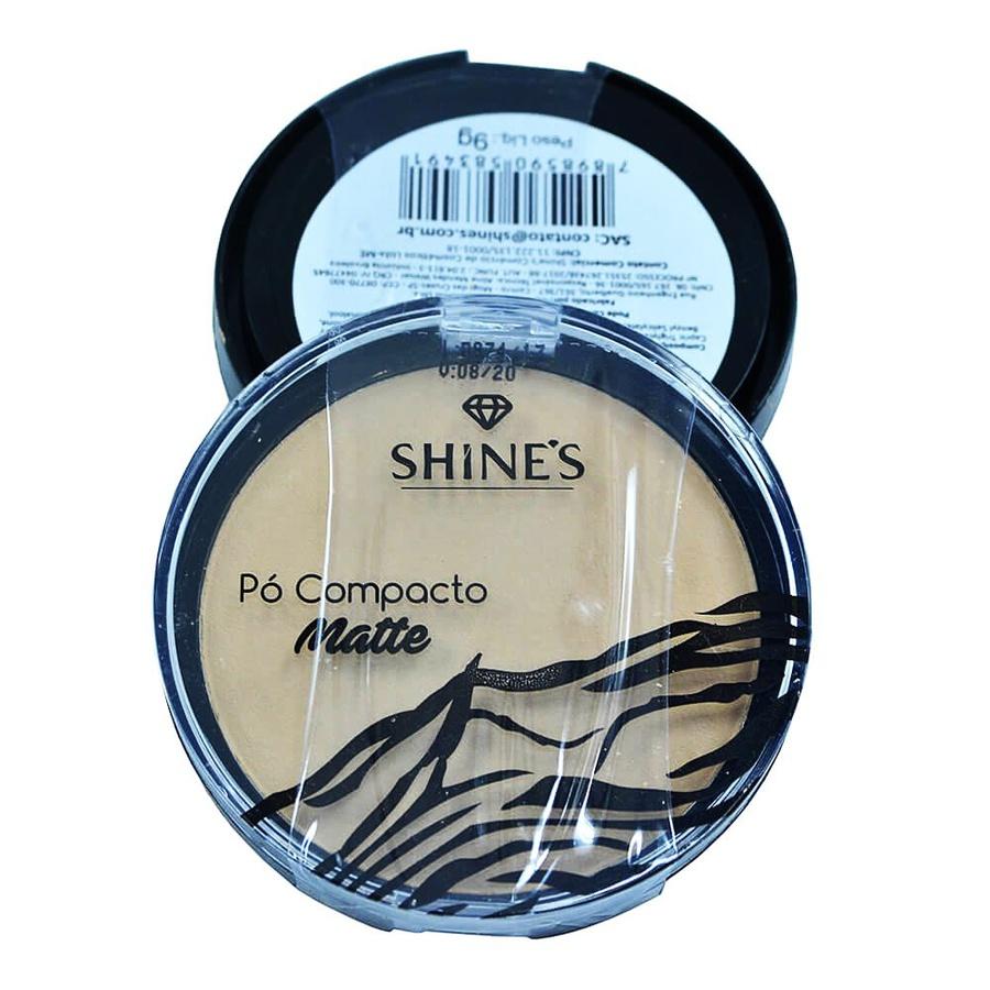Pó Compacto Matte Shine's Cor 02 Luminoso *