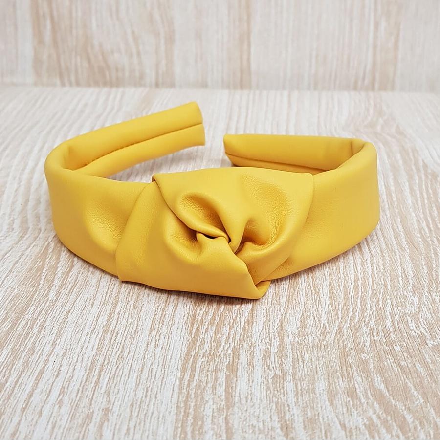 Tiara de Nó Amarelo Mostarda