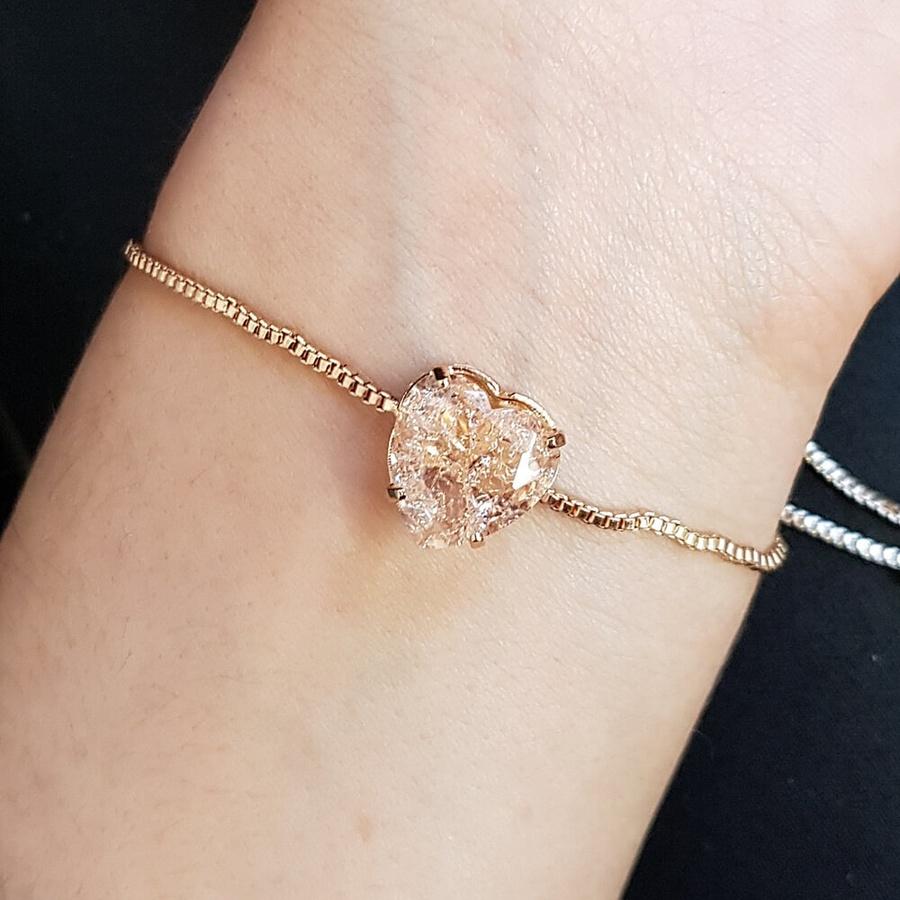 Pulseira Gravatinha Pedra Fusion Dourado Rosê
