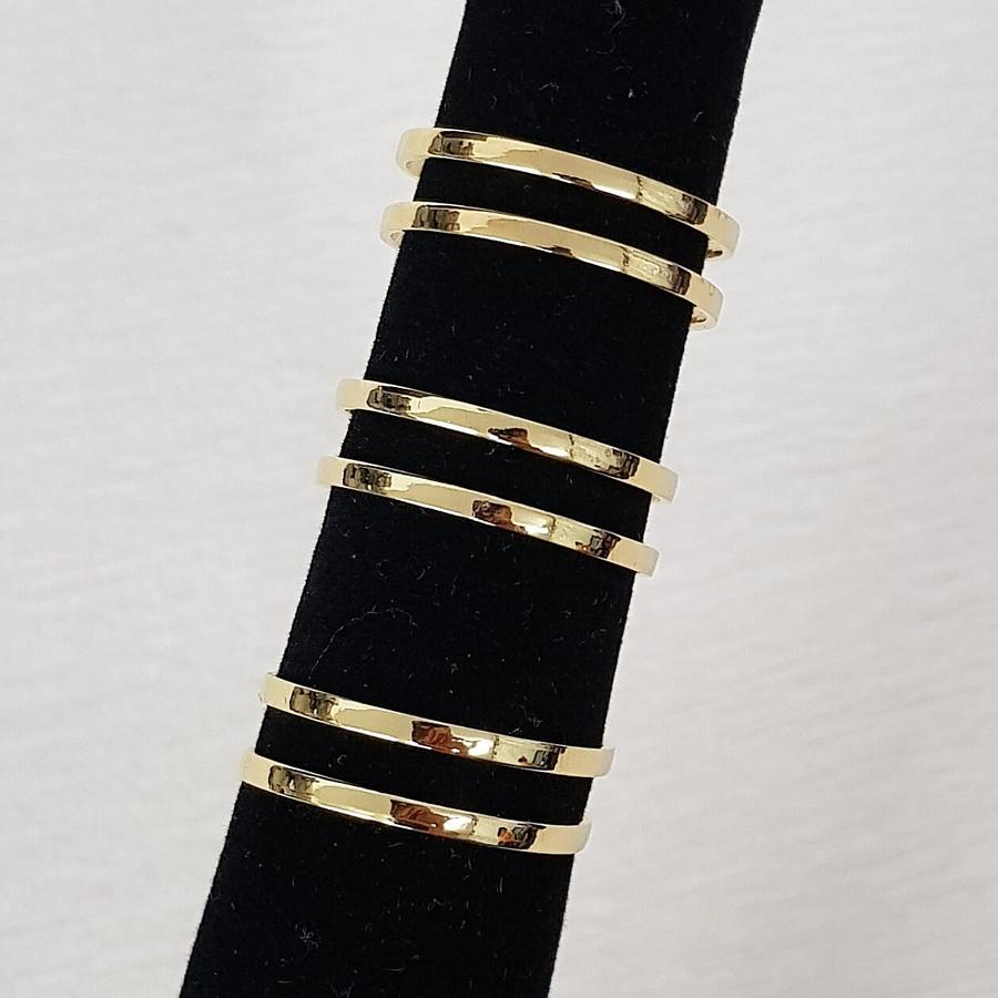 Kit De Anéis Dourado