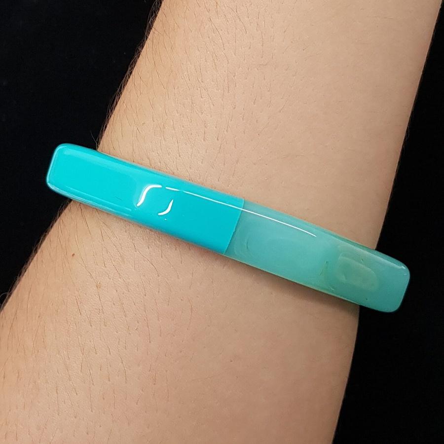 Bracelete Acrílico Moisaico Verde