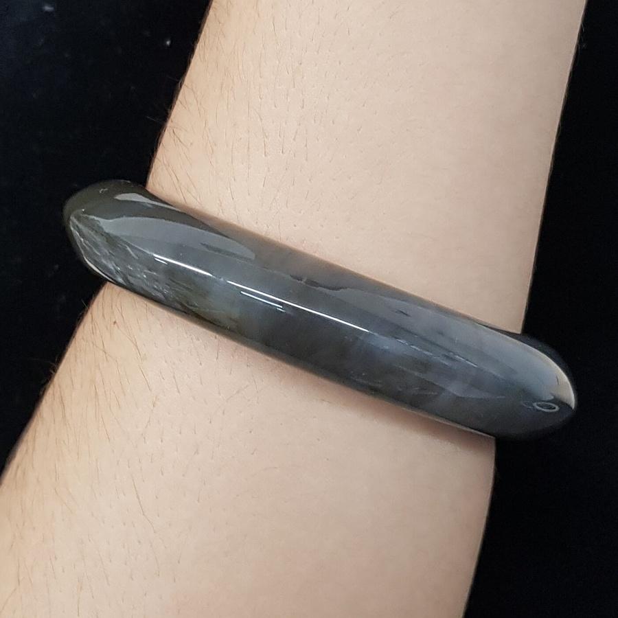 Bracelete Acrílico Mesclado Cinza