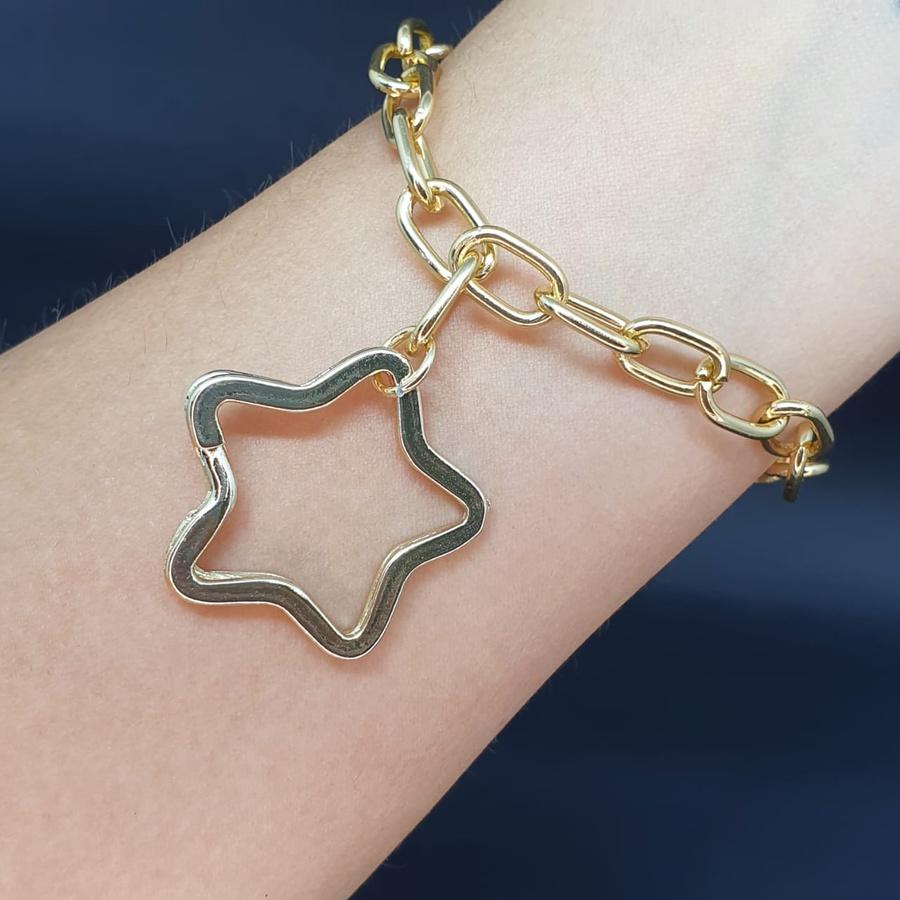 Pulseira Elos Dourada Estrela
