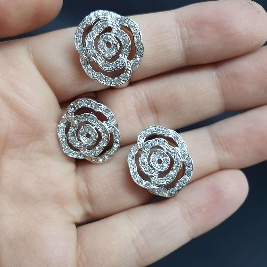 Kit Com 3 Anéis Folheados Prata Rosa