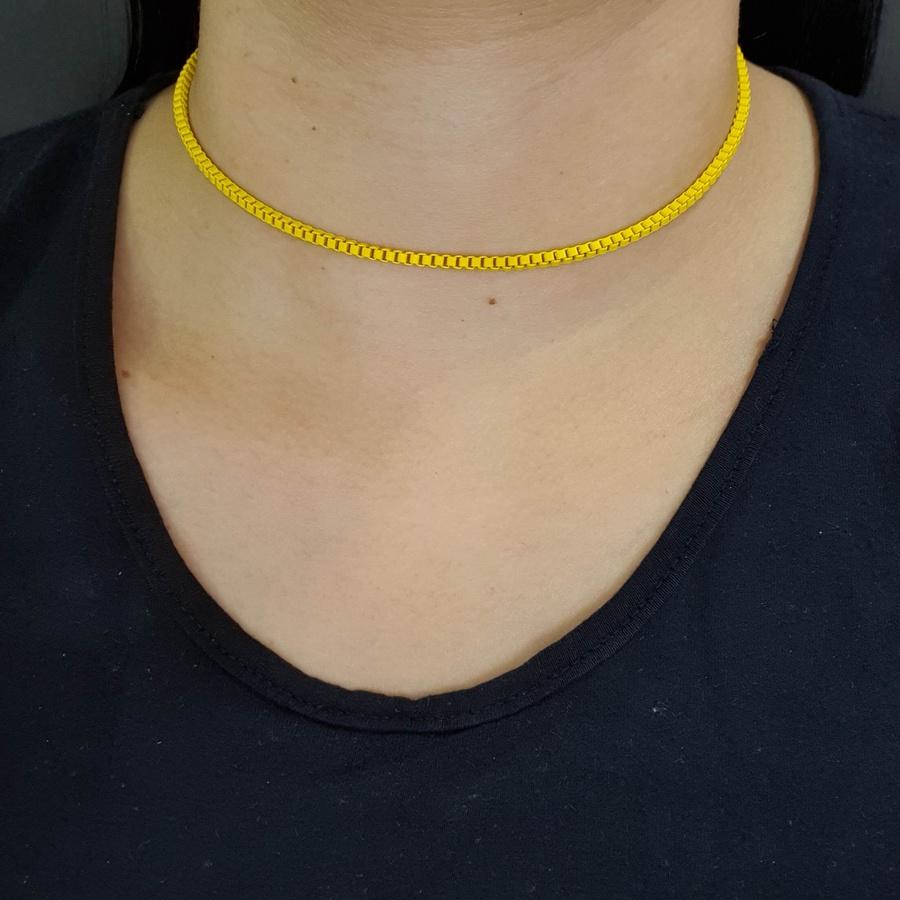 Colar Corrente Amarelo