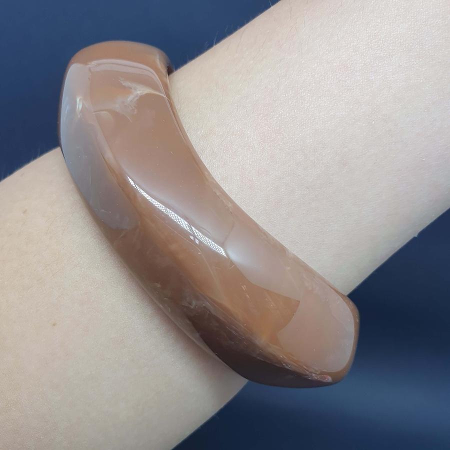 Bracelete Acrílico Mesclado Marrom Chocolate