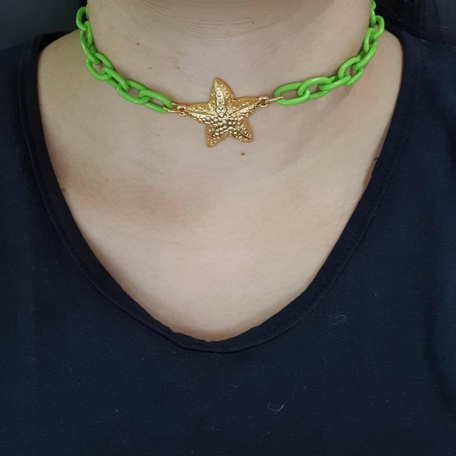 Colar Estrela Do Mar Verde