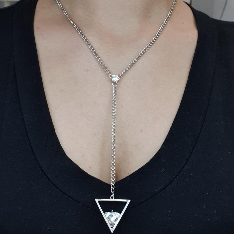 Colar Triângulo Prata
