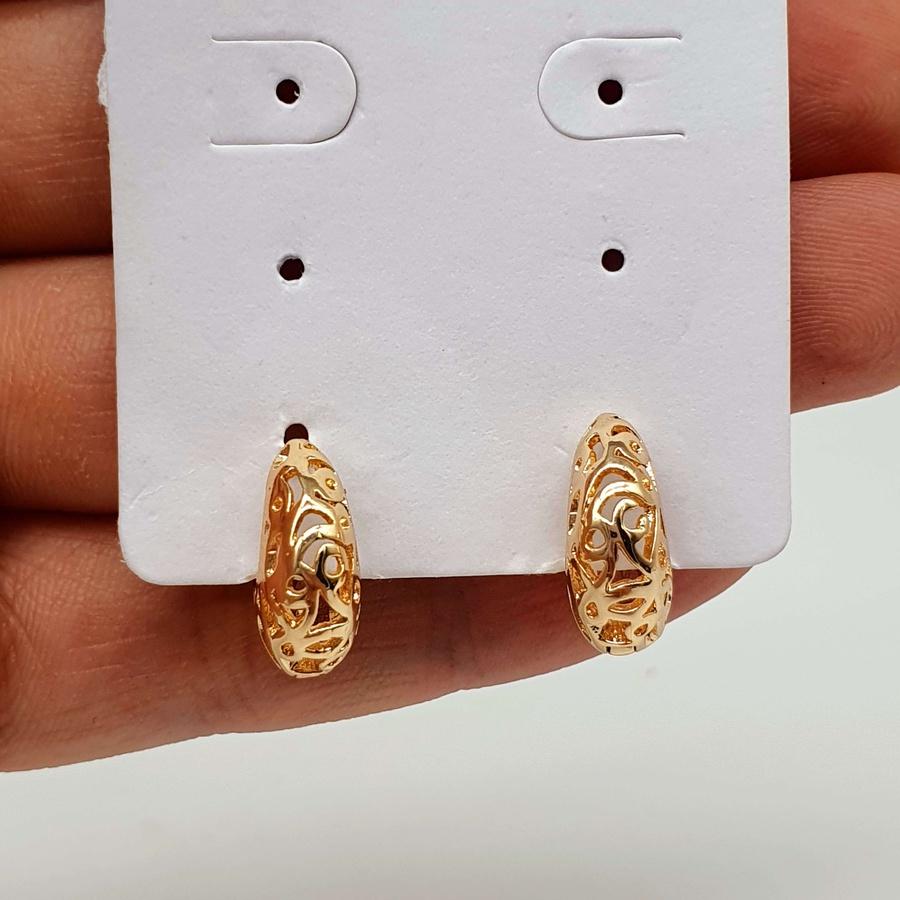 Mini Argola Folheada Dourada