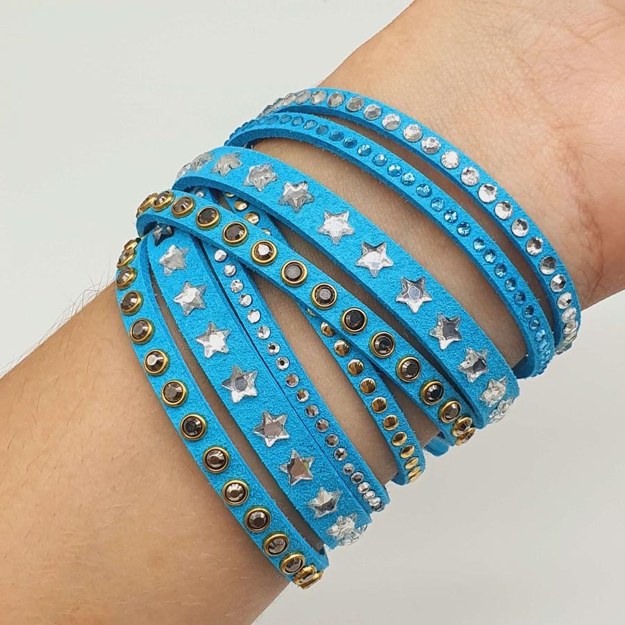 Pulseira Slake Estrela Azul Claro