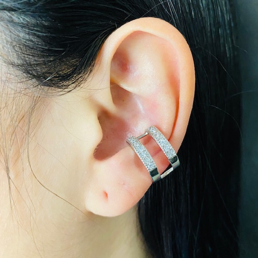 Piercing Fake (Uma Unidade) Zircônia Prata